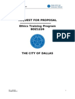 Dallas Requests Help With Ethics Policy