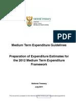 2012 MTEF Guidelines