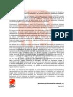 Declaración Pública MEI UC ante actuar FEUC sobre votación de propuestas metodológicas Congreso CONFECH. 11-4-2012