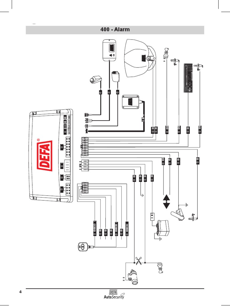carbine car alarm wiring diagram alarm defa 400 | sensor car alarm wiring diagram made in korea