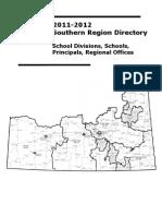 2011-2012 Southern Region Directory CANADA List of Schools