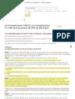 Lei Complementar 1166_12 _ Lei Complementar nº 1