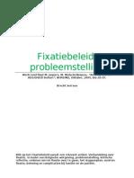 Fixatiebeleid België