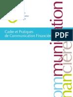 Cadre Et Pratiques de Communication Financiere