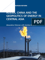 RUSSIA, CHINA AND THE GEOPOLITICS OF ENERGY IN CENTRAL ASIA