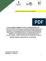 Plan de Manejo Ambiental para proyecto de fortalecimiento de la cadena agroindustrial de la uvita de lata en su eslabón producción-transformación