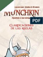 Munchkin Clarificaciones de Reglas
