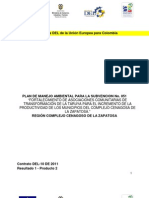 Plan de Manejo Ambiental para proyecto de fortalecimiento a las asociaciones comunitarias de transformación de la Taruya para el incremento de la productividad de los municipios del complejo Cenagosa de la Zapatosa.