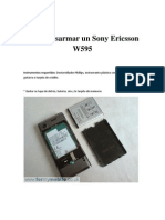 Como Desarmar Un Sony Ericsson W595