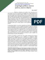 M. Abeles - La antropología política. Nuevos objetivos, nuevos objetos