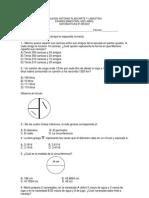 Examen 4o Bimestre Matematicas