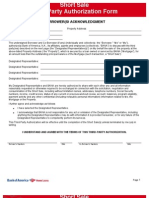Bank of America Short Sale Forms