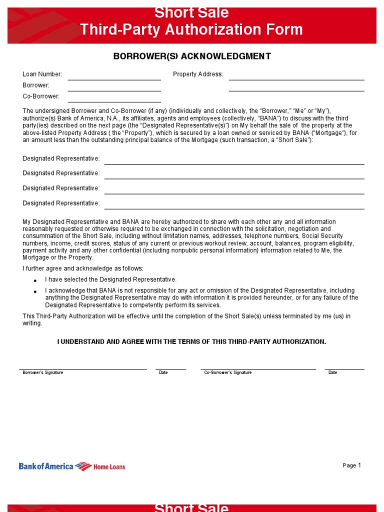 banking short forms
