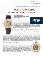 Top Watch Parade  At Christie'S Geneva On May 14