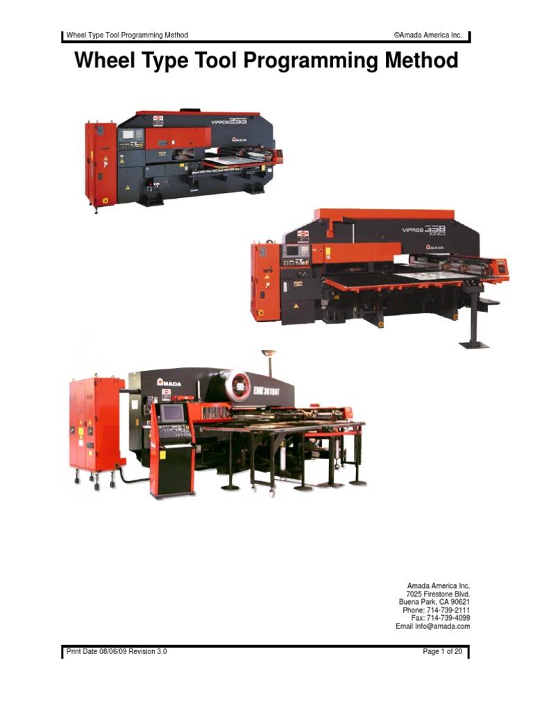 Amada - Wilson Tool 115196-Wheel Tool Programming Method Ver3(2) |  Cartesian Coordinate System | Software