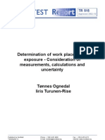 NT TR 515_Determination of Work Place Noise Exposure - Consideration of Measurements, Calculations and Uncertainty_Nordtest Technical Report