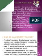 Diferentes Modelos de Adminstracion