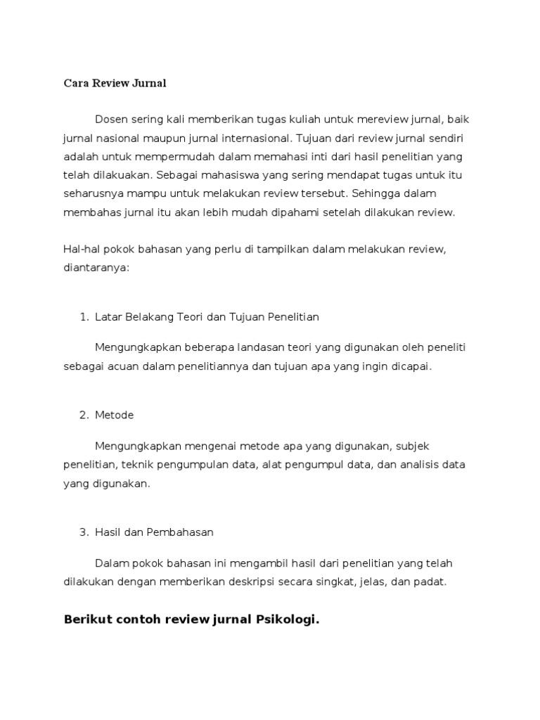 Cara Review Jurnal