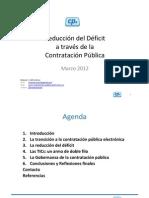 Reduccion Del Deficit a Traves de La Contratacion Publica