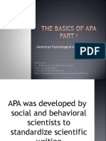 The Basics of Apa