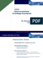 1.3 Economie de La Firme