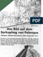 das Bild auf dem Sarkophag von Palenque