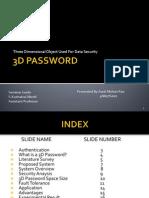3d Password