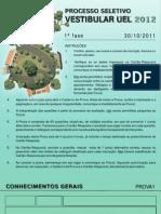 Prova 1 Uel 2012 1fase