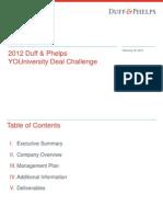2012 Duff&Phelps YDC Case