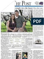 """Eberts/Mackler """"The Post"""" Wedding Front Page"""