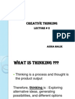 Creative Thinking Lecture 2