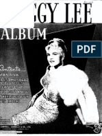 Peggy Lee Songbook - 1948 - Sheet Music