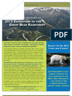 Great Bear Rainforest Expedition Brochure