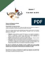 Boletín 7 de Correo Real de las Mariposas Monarca