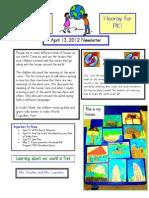 Newsletter April 13 2012