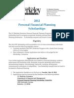 2012 PFP Scholarship Application May 15th Deadline