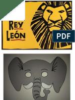 Máscaras para musical El rey león