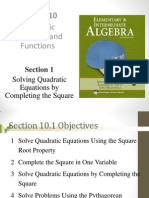 Seia2e_1001 10.1 Solving Quadratic Equations by Completing the Square