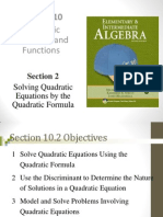 Seia2e_1002 10.2 Solving Quadratic Equations by the Quadratic Formula