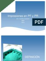 Impresiones en PF y PR