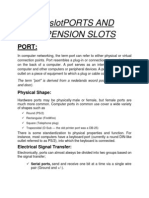 Ports and Expension Slots