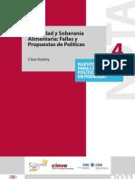 Seguridad y Soberanía Alimentaria en Paraguay. Propuesta de Políticas Publicas