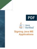 Signing Javame Applications