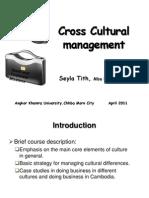 Cross Cultural Managment 04 2011