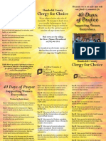 40 Days of Prayer Brochure