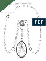 Divine Mercy Chaplet Coloring Sheet