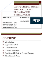 Management Control System in Manufacturing Organization