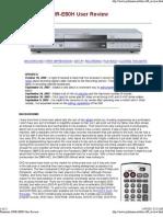Panasonic DMR-E80H User Review