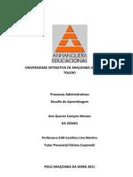 Desafio de Processos Administrativos 2011
