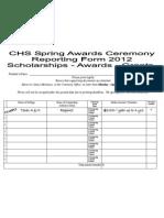Spring Awards Report Form 2012